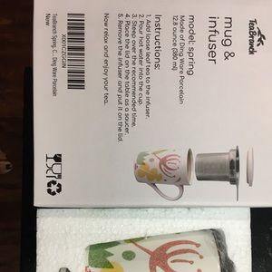 Other - Tea Branch Ceramic Brewing Mug & Infuser Strainer